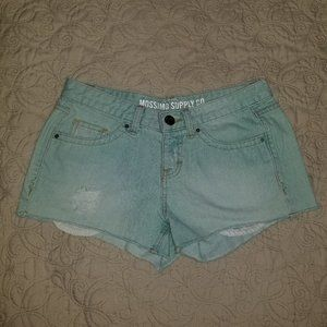 Mossimo Supply Co. mint green denim shorts, size 9